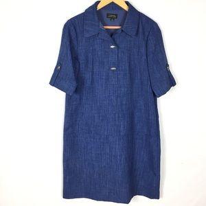 TAHARI Arthur S Levine shift loose dress